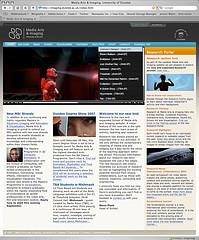 Screenshot of Media Arts & Imaging website