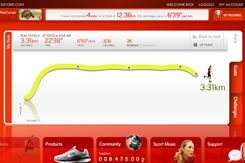 Screenshot of detail of run in Nikeplus.com