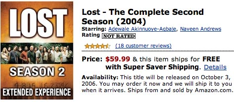 Image of Lost Series 2 on Amazon.com