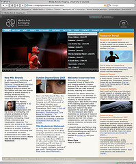 Screenshot of Media Arts & Imaging website