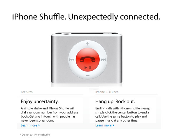 Secret pictures of the new iPhone Shuffle