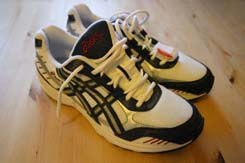 The Asics running shoes